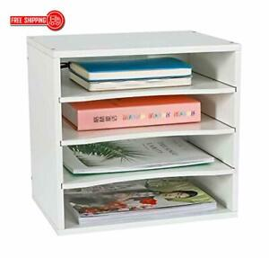 Pag Office Supplies Desk Organizer Wood File Mail Sorter With 3 Adjustable Drawe
