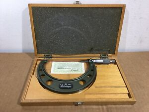 Mitutoyo 103 219 4 To 5 Micrometer With Case Standard And Wrench