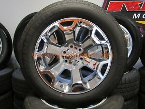 20 Inch Dodge Ram Rims Wheels Tires 2019 1500 Factory Oem Chrome Package Set