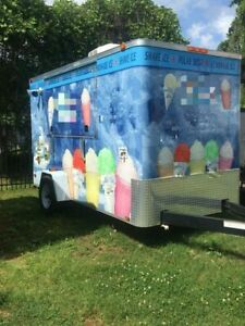2013 6 X 12 Turnkey Shaved Ice Concession Trailer For Sale In North Carolina
