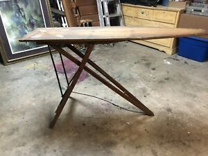 Antique Farmhouse Rustic Wooden Ironing Board