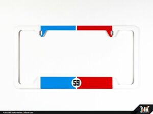 N America License Plate Frame Brumos Racing Livery Porsche 911 934 935 59 Rear