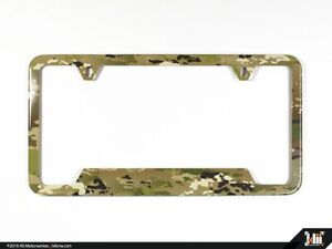 N America License Plate Frame Ocp Camo Scorpion W2 Usa Army Stainless Steel
