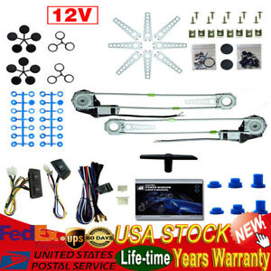 Roll Up Universal Electric Power Window Conversion Switches 12v 2 Door Car Truck