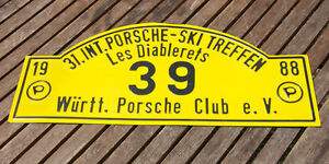 Car Club Sign Porsche Ski Club 31 Meeting 1988 W rttemberg les Diablerets