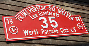 Car Club Sign 29 Porsche Ski Club Meeting 1986 W rttemberg les Diablerets