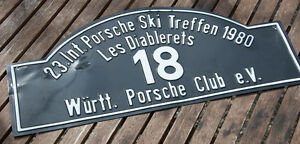 Car Club Sign Porsche Ski Club Meeting 1980 W rttemberg les Diablerets