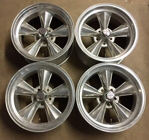 American Racing Polished Torque Thrust Style T70 17x9 Wheels Rims Ford Mopar