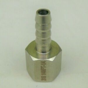 316 Stainless Steel 1 4 Hose Barb To 1 4 Female Npt Ss Pipe Fitting Coupler