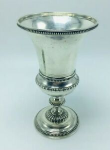 Antique Portuguese 833 Sterling Silver Chalice Cup