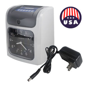 Electronic Employee Analogue Time Recorder Time Clock W card Time Attendenc A