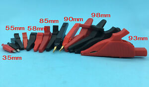 Insulated Alligator Clip Assortment Test Lead Electrical Battery Clamp Connector