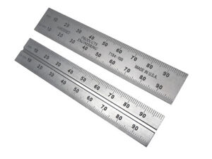 Replacement 100mm Blade For Pec Double And Combination Squares Metric Graduation