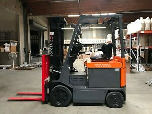 Toyota Electric Forklift 4000lbs Side Shift 3 Stage Mast 7fbcu20