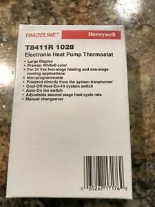 Brand New And Sealed Honeywell T8411r 1028 Electric Heat Pump Thermostat 24v