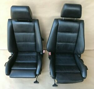 1985 1991 Bmw E30 318i 325i Convertible Coupe Recaro Sport Front Seats Black