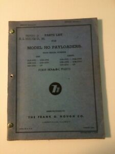 Ih Hough Ho Front end Wheel Pay Loader Tractor Parts Catalog Manual List 22 23bc