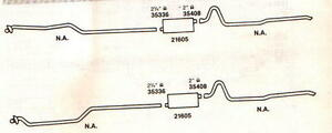 1964 Pontiac Catalina Gran Prix Dual Exhaust Aluminized With 421 Ho Engines