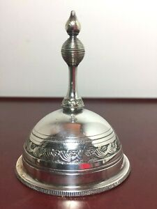 Antique Gorham Silverplate Servants Dinner Or Tea Bell Dated And Marked 1880 S