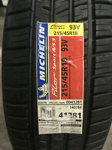 4 New 215 45 18 Michelin Pilot Sport A s 3 Tires