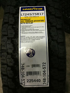2 New Lt 245 70 17 Lre 10 Ply Goodyear Wrangler At Adventure With Kevlar Tires
