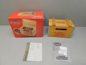 NEW RETIRED COCA-COLA Wood Crate FM AM Digital Alarm Clock Radio NIB