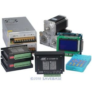 3 Axis Nema24 Stepper Motor 467oz in Cnc Controller Kit With Display And Keypad