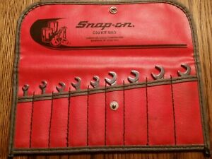 Snap On 9 Pc Sae 15 60 Offset Open End Ignition Wrench Set 1 8 3 8