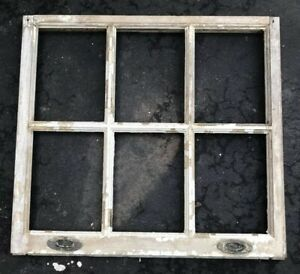 Vintage Sash Antique Wood Window No Glass Frame Wedding Distressed 27 29