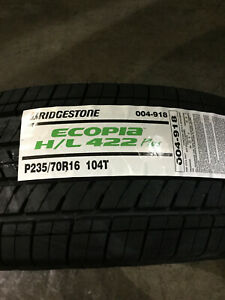 4 New 235 70 16 Bridgestone Ecopia H L 422 Plus Tires