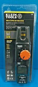 Klein Tools Cl360 Ac Open Jaw Fork Meter 200 Amp 600v 60m Brand 092644691140 New