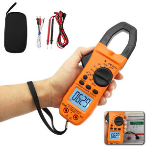 6000 Counts Digital Clamp Meter Tester Ac dc Auto Range Multimeter Trms Us Stock