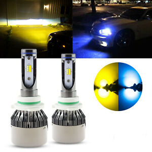 9006 Hb4 9012 High Power Yellow Ice Blue Cob Led Headlight Driving Bulbs Kit