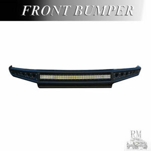 Fit 2014 2018 Chevy Silverado 1500 Steel Off Road Front Bumper W Led Light Bar