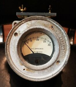 Vintage Ge Type Ao 72 General Electric 30 Amperes Gauge Crouse Hinds Condulet
