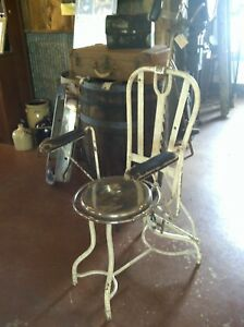 Antique Dental Dentist Or Barber Chair Great For Tattoo Shop