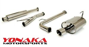 Yonaka 2003 2005 Honda Accord Stainless Steel Catback Exhaust 4cyl 4 Door Only