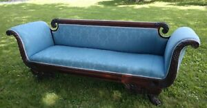 Vintage Antique Couch Sofa Duncan Phyfe Grateful Dead Hickory Tannery Ellsworth