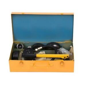 Hydraulic Metal Steel Plate Hole Punch Set Hand Pump With 10 Dies Tool