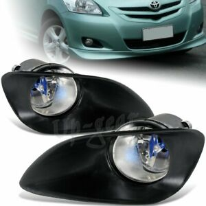 For 2007 2011 Toyota Yaris Sedan 4dr Clear Lens Bumper Driving Fog Lights Kit