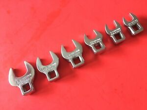 Craftsman V Series 6pc Sae 3 8 Drive Crowfoot Wrench Set Usa