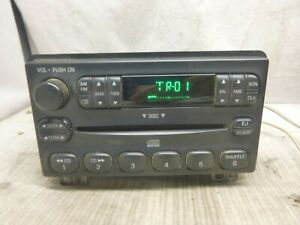 01 02 03 04 Ford Explorer Mustang Radio Cd Mp3 Player 2l2t 18c815 Ja Afs18