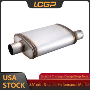 2 5 Performance Muffler O C Universal Exhaust Silencer 2 5 Inlet