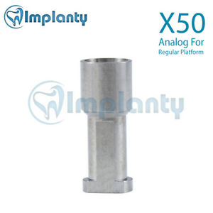 50 Analog Dental Implant Abutment Conical Hex Titanium Similar Nobel Active Rp