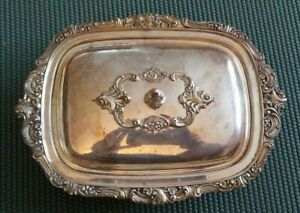 Wallace Baroque 10x7 Individual Casserole Silver Plate Silverplate Covered Dish