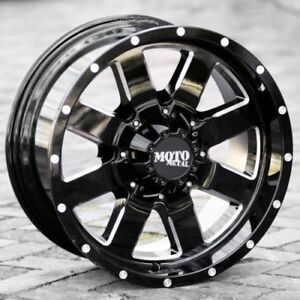 20x9 Black Wheels Moto Metal 962 1994 2019 Dodge Ram 2500 3500 Trucks 8x6 5 0mm