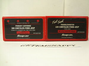 Snap On 2000 Domestic Primary Troubleshooter Cartridge Set Mtg Mt2500 Scanner