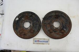 Ford F250 Closed Knuckle Dana 44 Large Ball Axle 8 Lug Backing Plates Complete