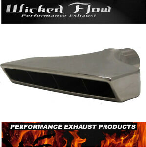 Rectangle 2 5 Inlet Exhaust Tip Polished Stainless Steel Big Slant
