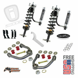 Radflo 2 5 Adj Shocks W Res Total Chaos Mid Travel Kit Front Tacoma 96 04